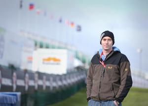 On track: Dr John Hinds on the North West 200 circuit