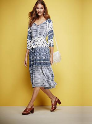Dress, £30, bag, £15, sandals, £28, all from BHS