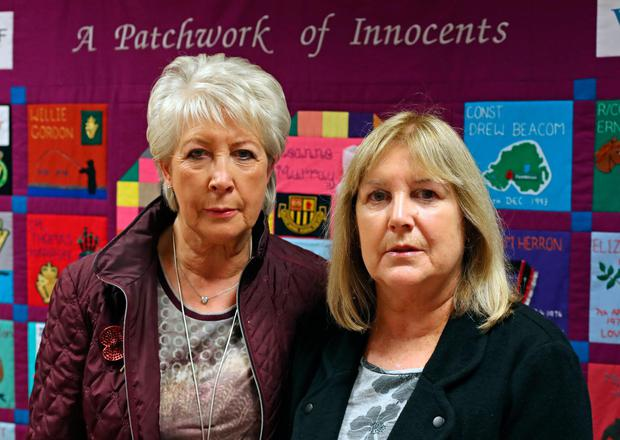 Margaret Veitch and her sister Joan, whose parents William and Agnes Mullan were killed in the Enniskillen bombing