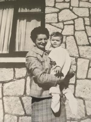 Helen Ward as a young girl with her adoptive mother