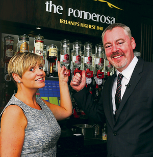 Raising the bar: Ponderosa owner Karl McErlean with general manager Jill O'Donnell