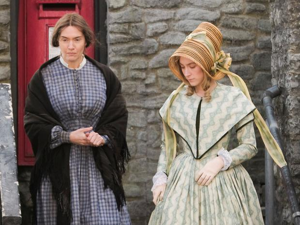Sexual element: Saoirse Ronan (right) and Kate Winslet in Ammonite
