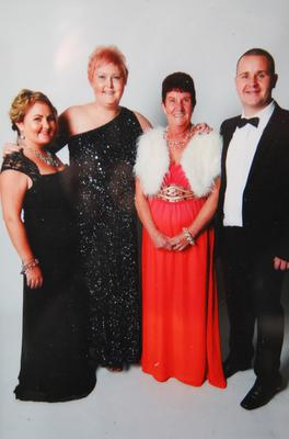 Leanne with her late sister Noleen and their mum Rose and brother Brian