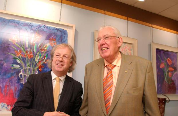 Ministerial meeting: Eamonn with Ian Paisley in 2008