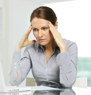 Worked up: headaches are a symptom of stress