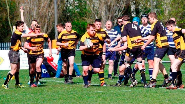 Mick Finnegan playing rugby