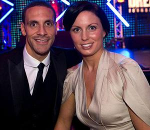 Rio Ferdinand with his first wife Rebecca