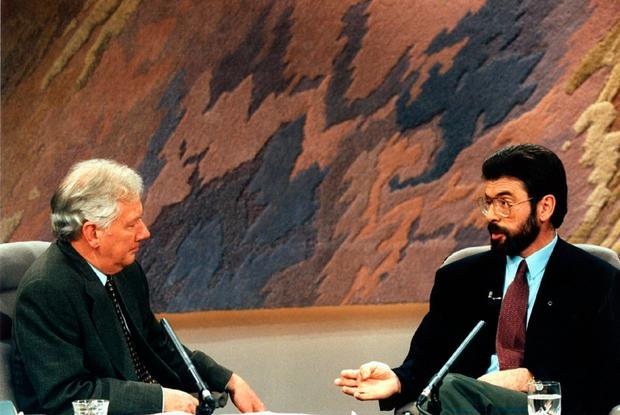 Head to head: Gay Byrne interviewing Gerry Adams on The Late Late Show in 1994