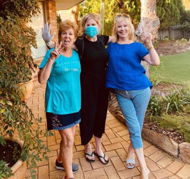 Down under: Emma with her great aunts Celeste and Kathleen in Perth