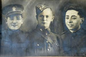 Memories: (from far left) SAS hero Lance Corporal Howard Lutton and his brothers Geordie and Willie