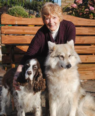 Good listener: Jan Fennell with two of her dogs