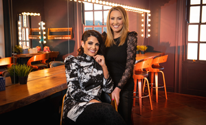 Upbeat: Make-up artist Ciara Daly and radio presenter Cate Conway