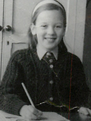 Annemarie Neary as a young schoolgirl