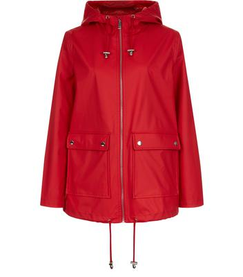 Red raincoat, £34.99 from New Look