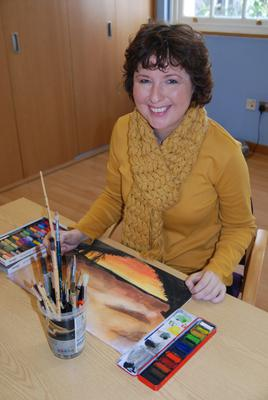Life-changing: Sonia Moore at a Cancer Focus NI art therapy session