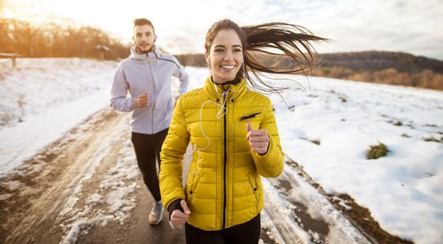 Healthy option: maintaining a regular exercise regime is really beneficial, particularly in the winter months