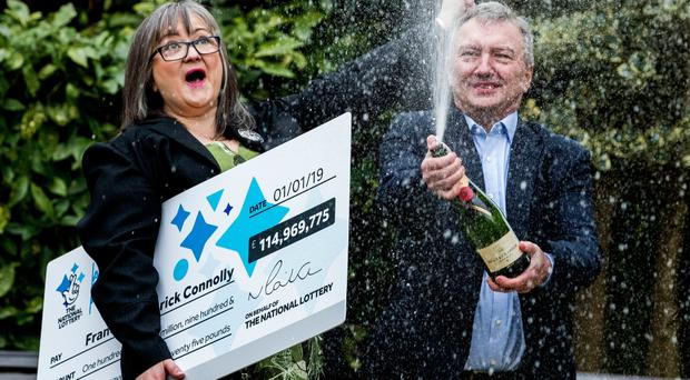 Euromillions winners Frances and Patrick Connolly from Moira