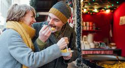 Seasonal discomfort: festive over-eating can have a lasting effect but, right, talking to your pharmacist can help