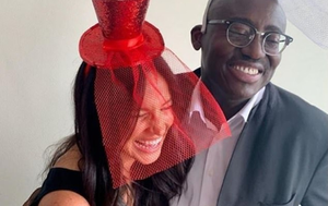 Meghan Markle with British Vogue editor Edward Enninful