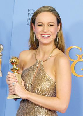 Brie Larson with her Golden Globe