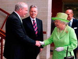 Better times: peacemaking gestures such as the Queen shaking hands with Martin McGuinness are a thing of the past