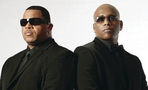 Tragic tale: Michael Jackson's bodyguards Bill Whitfield (left) and Javon Beard have written a book recounting their experiences of working for the star