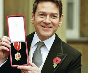 Mighty talent: Sir Kenneth Branagh with his knighthood