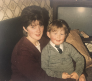 So close: Paddy with his aunt Patricia