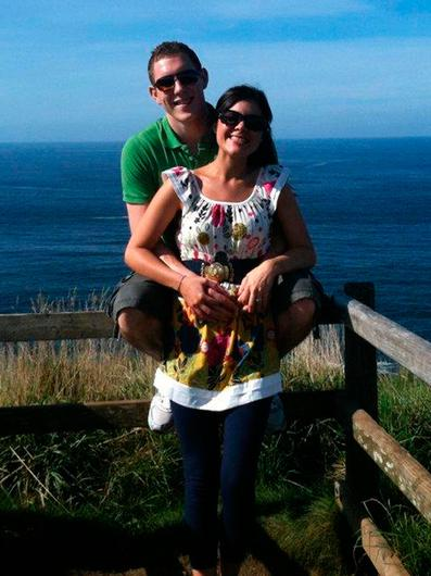 Tragedy: John and Michaela McAreavey at the Giant's Causeway, in Antrim