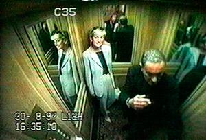 One of the last images of Princess Diana with Dodi Fayed before accident