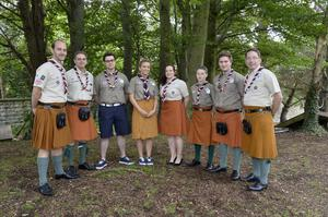 Big honour: from left, Northern Ireland Scouts Richard Morrow, Philip Dalzell, Jordan Leinster, Katy Mills, Danielle Markwell, Daniel McKissick, Callum McCloskey and Peter Wilson who will attend the 23rd World Scout Jamboree in Japan.