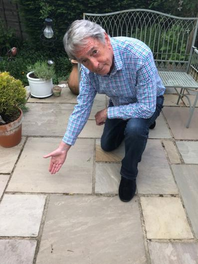 Cleaning up: Gordon's new patio