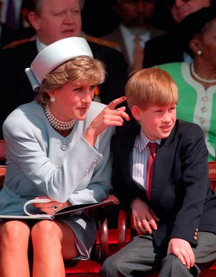 Harry and his mother, Princess Diana