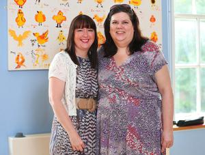 Creative bond: art therapist Joanne Boal, with former cancer patient Sonia Moore