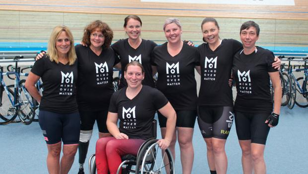 Tara (far right) with the female team of serving and wounded, injured and sick veterans who are cycling 3,000 miles from the west to east coast of America