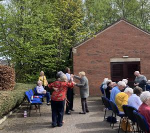 Stepping out: residents dance to Anthony Toner at Sydenham Court