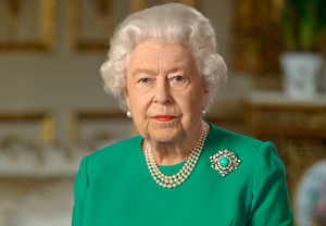 Standing tall: The Queen addresses the nation last Sunday night from Windsor Castle on the coronavirus pandemic