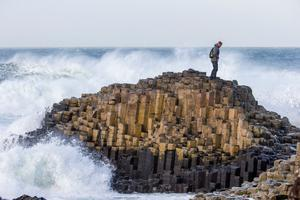 Swept away: Ian Paisley rescued a boy from drowning at the Giant's Causeway