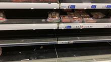 Transition: Limited choice in a Tesco store in NI as the effects of the Irish Sea border are felt