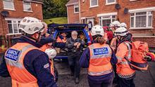 Sean McCarrybriefing his team during the arduous search operation for Noah Donohoe
