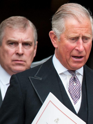 Prince Andrew with his brother Prince of Wales
