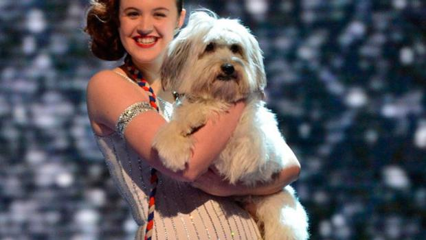 Pudsey the dog with owner Ashleigh who won Britain's Got Talent