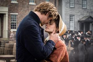 Romantic side: Hemsworth as Owen with Charlotte Riley in In The Heart Of The Sea