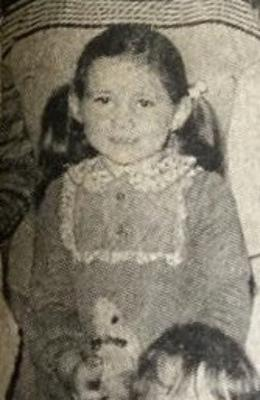 Happy childhood: Cate as a young girl