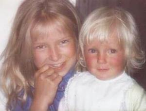 The sisters as children
