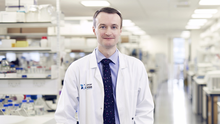 Pioneering work: Dr Richard Turkington's research could lead to new treatments for pancreatic and oesophageal cancers