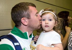 Golden girl: Paddy with his daughter Eireann Barnes