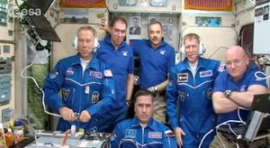 Astronauts on the International Space Station this week