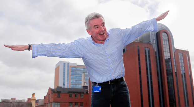 Ryanair boss Michael O'Leary has had mixed feelings on Belfast's airports in the past. (Photo Kevin Scott)