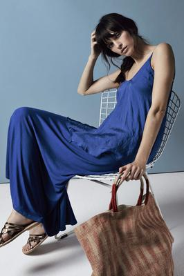 Maxi dress, £89, Phase Eight, bag, model's own